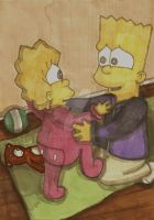 Bart And Lisa-Lisas First Step by ChnProd22