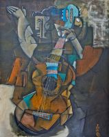 Guitar player by MoritzMiessl
