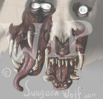 Siamese twins WIP by SurgeonWolf