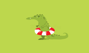 Gator T-shirt design by Zerda-Fox