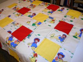 Raggedy Ann and Andy baby quilt WIP 2 by ChaosFay