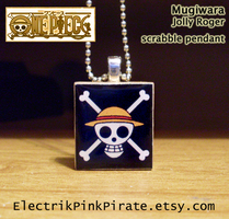 Mugiwara scrabble tile pendant by ElectrikPinkPirate