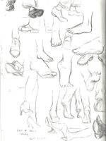foot study by decomposerdoll