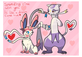 Sylveon X Mienshao by Thundrbolt
