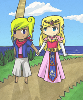 Tetra and Zelda... by Coco-of-the-Forest