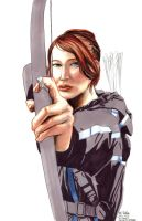 Daily Sketches Katniss Everdeen by fedde