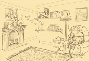 Poltergeist Concept: Nanna in her Lounge by GeezGeorge