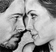 Brad and Angelina drawing by ZdenoSuchy