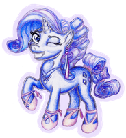 Rarity the Crystal Pony by Sall11111