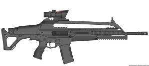 Crysis 2 Mk20 SCAR Assault Rifle (Ranged) by Scarlighter