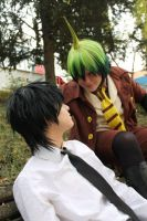 Rin and Amaimon - Ao no Exorcist by Kibamarta