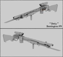 Remington 870 Betty - untextured by cr8g