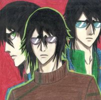 Ulquiorra en 3 retratos xD by Dragonddai