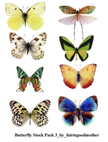 Butterfly Stock Pack 3 by FairieGoodMother