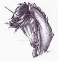 .: Black unicorn in the wind :. by Nala-l-Taiir