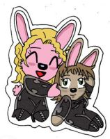Sticker showcase 3  latex bunny hugs by jimsupreme