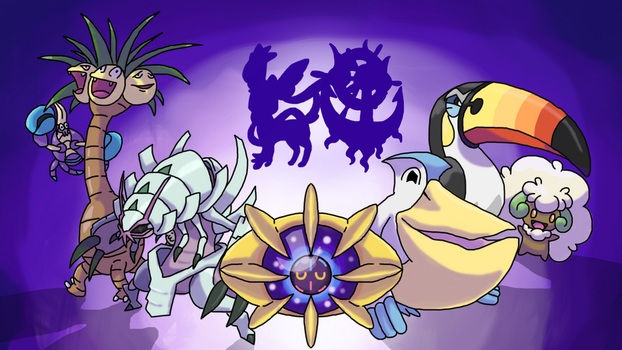 Some Pokemon Sun Art by TheFlumpyTripod