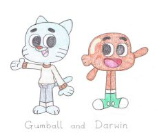 Gumball and Darwin by TheAwesomeWorld