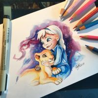 Little Elsa and Kiara by Lucky978
