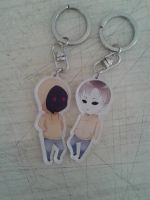 Marble Hornets keychains by AiUTA31