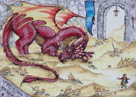 Smaug the Golden by NadineThome