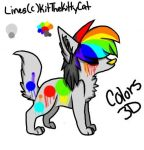colors 3d wolf auction  (OPEN) by Tori-dono