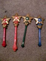 Inner Senshi wands by Sparklycupcake23