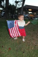 Evelyn carrying the flag by UnaccountedFranglais