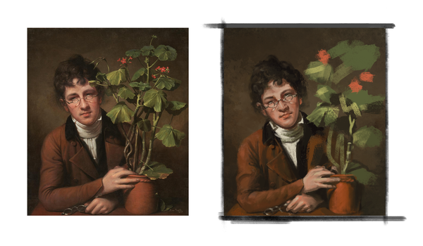 Rembrandt Peale  Rubens Peale with a Geranium by simbalm
