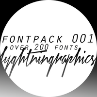 Fonts by lyghtningraphics