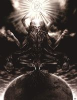 The Great Old One Cthulhu by enoxis