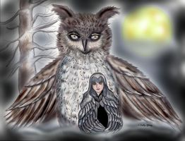Spirit of the owl SGG by sallygilroy