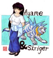 Ayame and Striger_colour by ancient-secrets