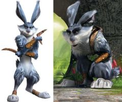 bunnymund: rise of the guardians by leeannett