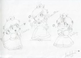 Cute Princesses by CloTheMarioLover