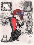The Girl with the Masked eye by InkyDreamz