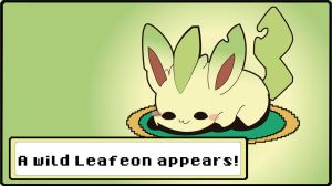 A Cute lil'leafeon appears! by ShinSoulThief