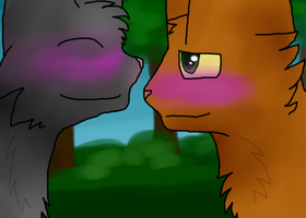 Firestar and Cinderpelt by Swift-The-Kitty