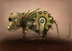 Steampunk Pi_Rat Concept by Ivy00