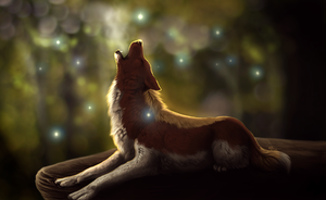 Evening Breath by wolf-minori