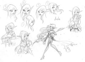 Arela sketches by fantazyme
