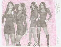 Bella, Nikki and Brie by eazy101