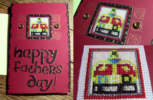 Cross-Stitch Window Fathers Day Card 2013 by spektijim