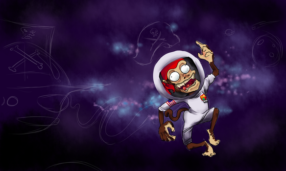 Pirate Space Moneky WIP by Droidigan