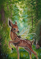 ACEO - Child Of The Forest by DawnUnicorn