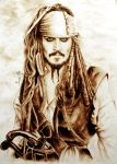 Captain Jack Sparrow by Galinaxsim