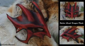 Amber Great Dragon Mask by Epic-Leather