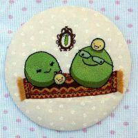 Little Pea Family on a Fancy Carpet embroidery by starrley