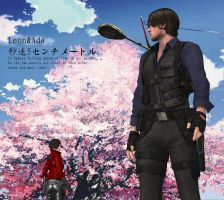 Leon And Ada:Five centimeters per second by OadawongO