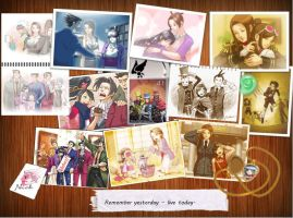 ace attorney - through the years. by RyuClockwork